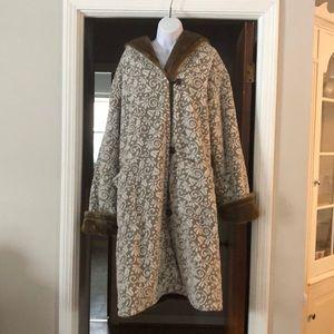 Jackets & Blazers - Beautiful Plush Reversible Coat